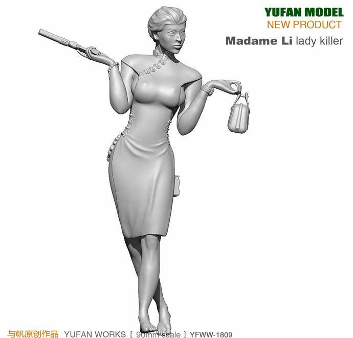 1:18 Madame Li Lady Killer Female Resin Scale Figure YFWW-1809 - Yufan Models Store