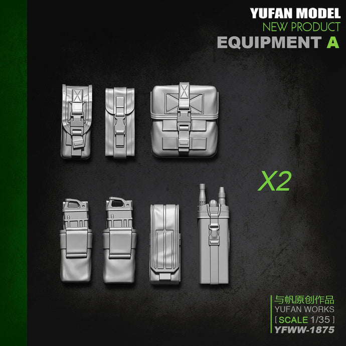 1:35 S Soldier Equipment Package Accessories A Pouches Resin Scale Model YFWW-1875 - Yufan Models Store