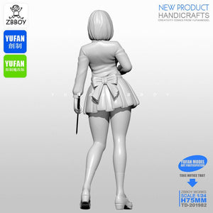 1:24 Anime Beautiful Girl with Katana Resin Scale Figure TD-201982 - Yufan Models Store