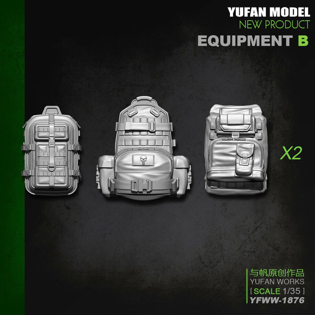1:35 US Soldier Equipment Package Accessories B Backpacks Resin Scale Model YFWW-1876 - Yufan Models Store