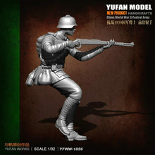 Load image into Gallery viewer, 1:32 China World War II Central Army Resin Scale Figure 60mm YFWW32-1856 - Yufan Models Store