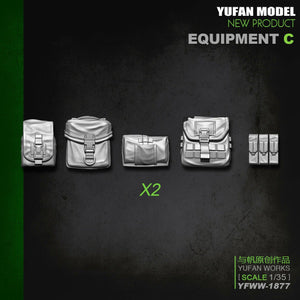 1:35 US Soldier Equipment Package С Utility and Ammo Pouches Accessories Resin Scale Model YFWW-1877 - Yufan Models Store