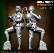 Load image into Gallery viewer, 1:35 Chinese WW2 Female Warrior with Rifle Resun Scale Figure YFWW35-1851 - Yufan Models Store