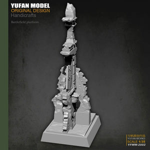 1:35 Platform for Soldier Figurines Accessories Resin Scale Model YFWW-2002 - Yufan Models Store