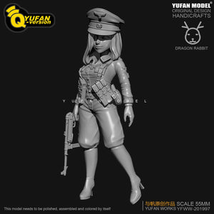 new Resin Figure Kits Q version Colonel Resin Soldier  H55mm YFWW35-2057