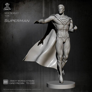 new 1/24 Resin Figure Kits Superman resin model Self-assembled TD-2269