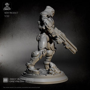 new 55MM Resin Model Kits  Space warrior self-assembled TD-2218