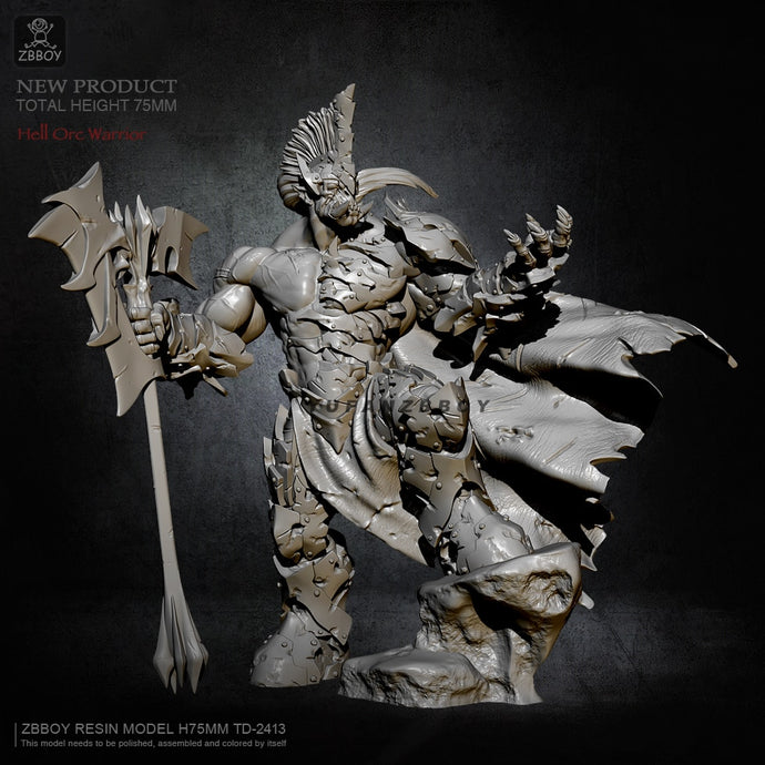 75mm  Resin model kits Beastmaster self-assembled TD-2413