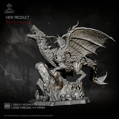 new Dragon resin model  Self-assembled  (119mm width) TD-2223