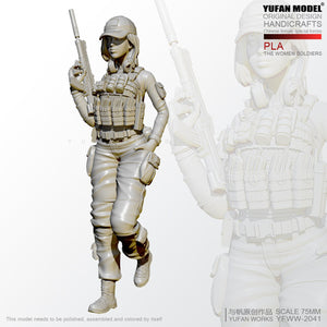 1/24 Chinese PLA Female Special Forces Resin Figure YFWW-2051