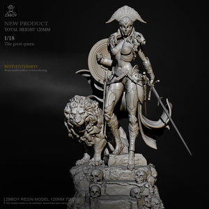 H120mm 1/18 Resin model kits DIY figure self-assembled TD-2666