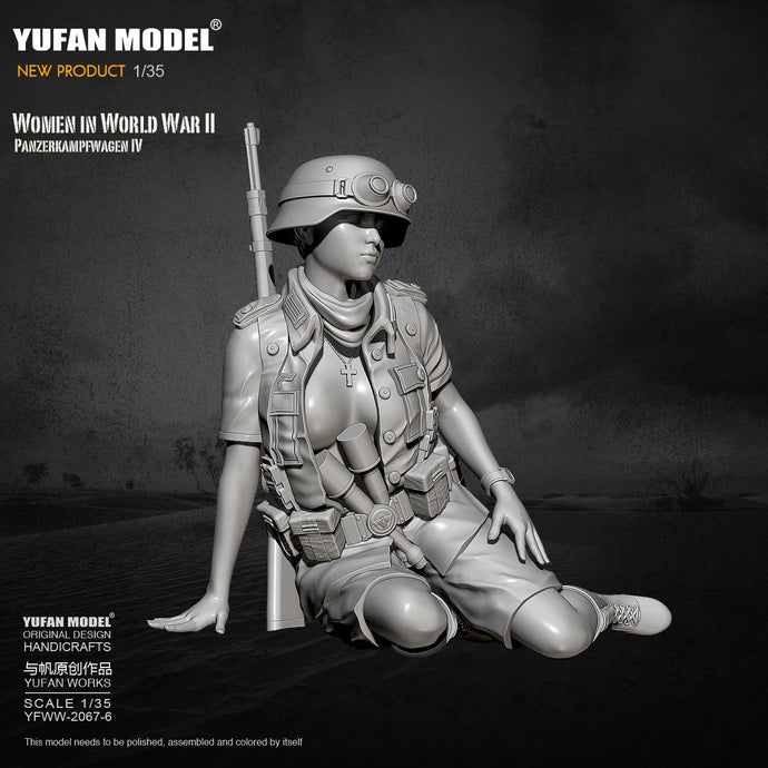 1/35 Yufan model Resin Model Tank soldier beauty self-assembled  YFWW-2067-6