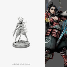 Load image into Gallery viewer, 38MM Resin figure kits model Samurai beauty self-assembled A-269