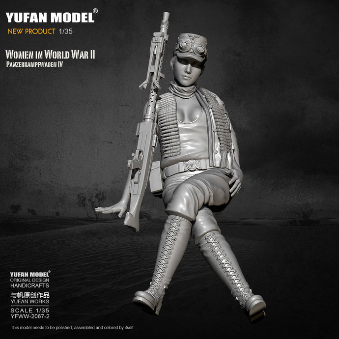 1/35 Yufan model Resin Model Tank soldier beauty self-assembled YFWW-2067-2