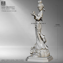 Load image into Gallery viewer, 75mm Resin model kits  Northern Song Ladies DIY self-assembled TD-2512