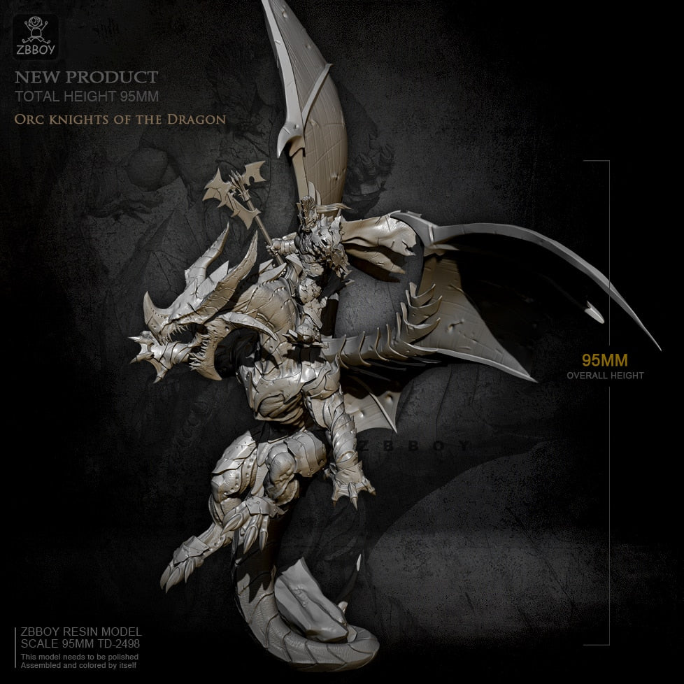 1/32 Orc knigths of the Dragon Resin figure model kits self-assembled 95mm ZBBOY TD-2498