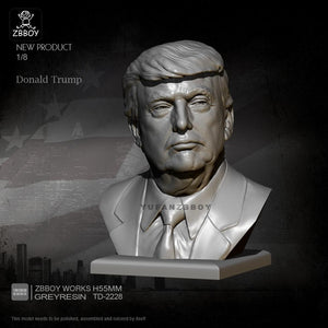new H55MM Resin Bust Kits Donald Trump Figure Model Self-assembled TD-2228