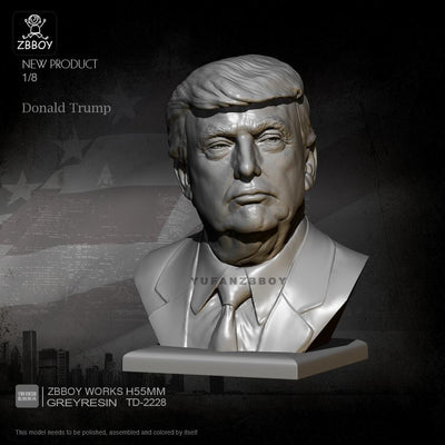 1:8 Resin Bust Kits Donald Trump 55mm ZBBOY works TD-2228