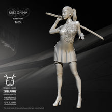 Load image into Gallery viewer, new 55mm1/35 Resin Figure Kits Long sword cheongsam women Self-assembled YFWW35-2044