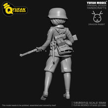 Load image into Gallery viewer, new H55mm Resin Figure KitsYufan Model Q version resin female soldier Self-assembled YFWW35-2058