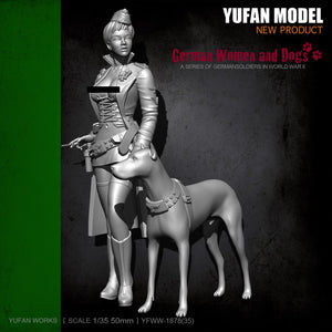 new YuFan Model 1/35  Resin Figure Kits Female officer self-assembled YFWW35-1878