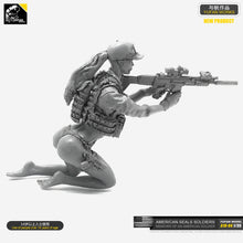 Load image into Gallery viewer, Yufan Model 1/35 Resin Soldier Kits  Model (US Army Bikini SEALs)  self-assembled A18-04