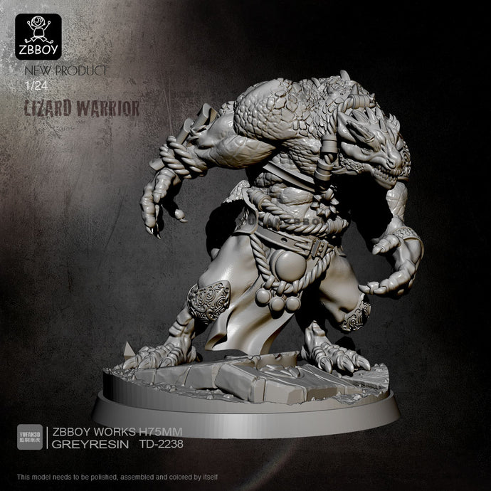 75mm Reisn Model Kits Lizard Warrior Self-assembled TD-2238