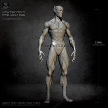 Load image into Gallery viewer, 75MM Resin model kits Leopard MAN DIY toy self-assembled TD-2510