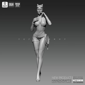 1/24 Resin Kits Catwoman white mold resin Soldier Model  self-assembled TD-202052