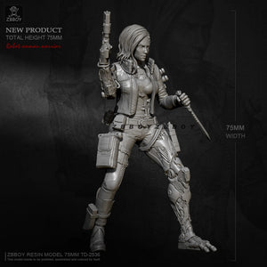 1/24 Ribitic woman warrior Resin model ZBBOY TD-2536