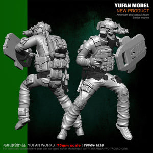 1:24 US SEAL Team Senior Marine Soldier Resin Scale Figure YFWW-1838 - Yufan Models Store