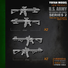 Load image into Gallery viewer, Yufan Model Original 1/35m4 Rifle-2 Resin Soldier Length 2-3CM Model Kit Yfww-1864