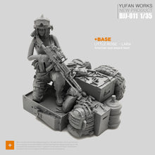 Load image into Gallery viewer, Yufan Model 1/35 Female Soldier And Platform Female Soldier Seals  Djj-11