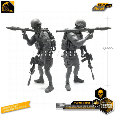 1:35 Modern US Soldier with RPG-7 Grenade Launcher Resin Scale Figure NAI-27