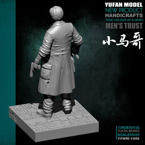 Yufan Model Originally  Resin Figure 65mm Little Margo Resin Soldier With Platform  Unmounted And Uncolored Yfww-1986