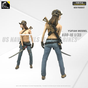 Yufan Model 1/35 Figure Model Kit American Seal Commando Resin Soldier Model Unmounted And Unpainted Loo-16