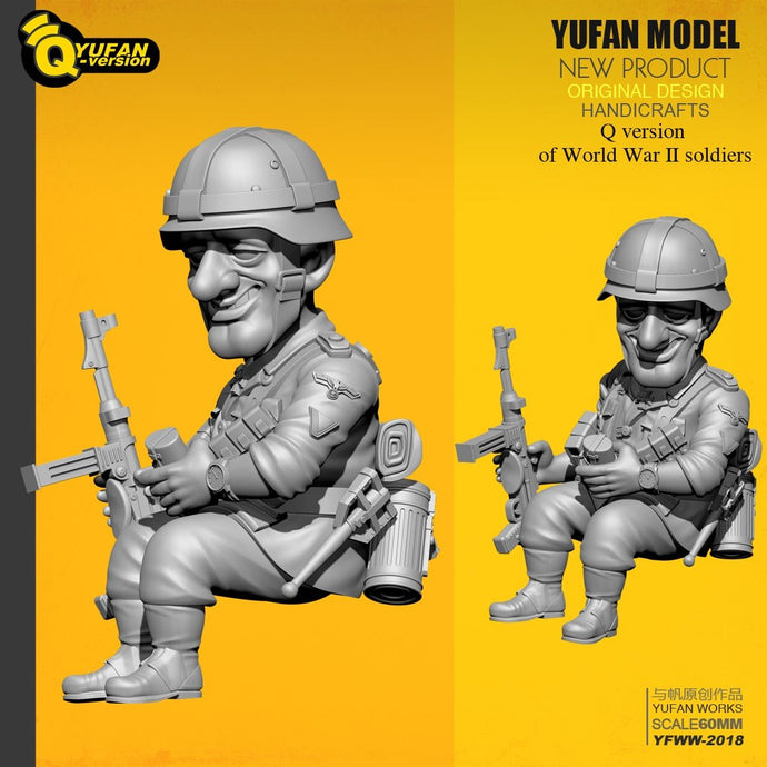 Yufan Model 1/32 Figure Kits Q Version Resin Soldier (60mm High) Yfww-2018