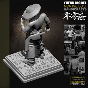 Yufan Model  Original Resin Figure 65mm Zero Paint Resin Soldier With Platform Unmounted And Uncolored Yfww-1988