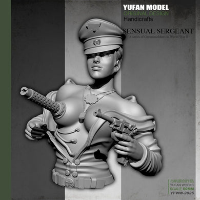 YUFan Model  Resin Kits Bust Sexy female mechanical half body resin soldier  Sefl-assembled YFWW-2025