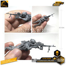 Load image into Gallery viewer, Yufan Model 1/35 Figure Model Kit Us Seal Machine Gun Shooter Resin Soldier Nai-18