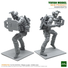 Load image into Gallery viewer, Yufan Model 1/24 Soldier Model Kit 75mm Resin Soldier Unmounted Yfww-1838