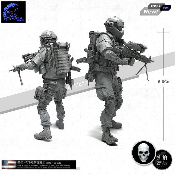 Yufan Model 1/35 Figure U.s. Special Forces Berserker C Resin Soldier Model Unmountel Kits Tlp-03