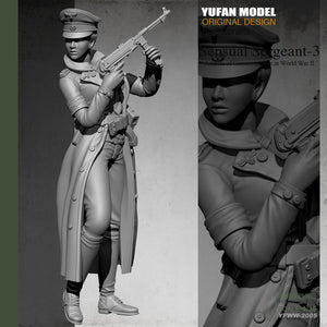 Yufan Model  1/35  Female Officer  Resin Soldier Colorless And Self- assembled Yfww-2005