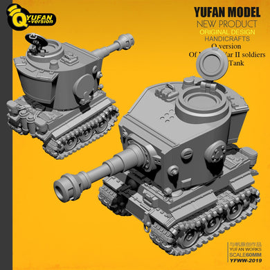 Yufan Model Q version tiger tank resin model Yfww-2019