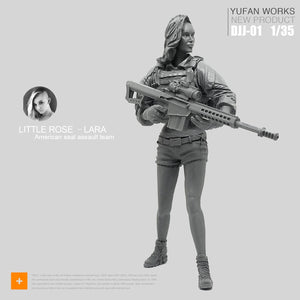 Yufan Model 1/35 Female Resin Soldier Seals Commando Team Rose Laura Series Sniper Figure Model Kit Djj-01