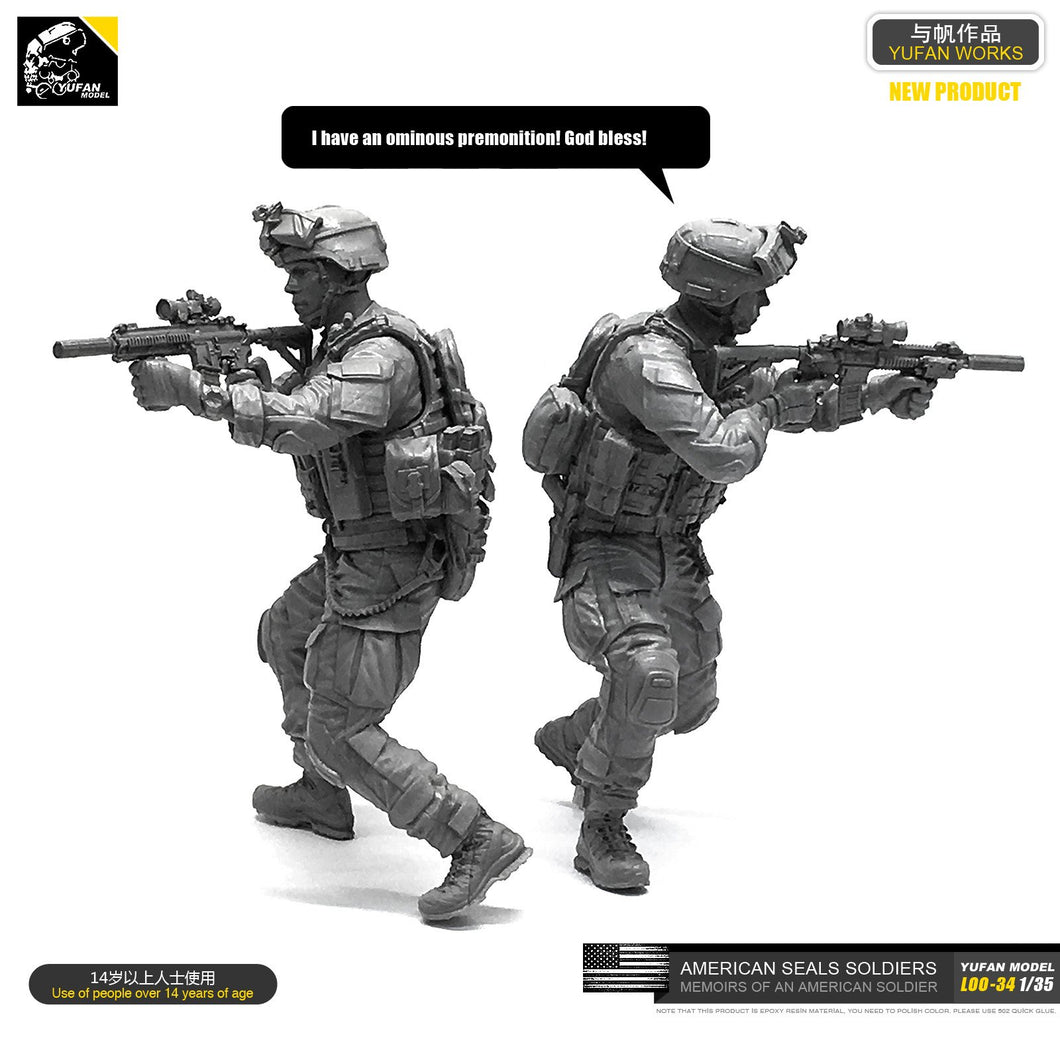 1/35 Resin Kits Figure US Navy Seal Commander Resin Soldier Self-assembled LOO-34