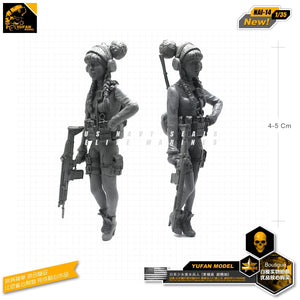 Yufan Model 1/35 Figure Model Kit Japanese Maiden American Equipments 2 Resin Soldier Model Nai-14