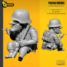 Load image into Gallery viewer, Yufan Model 1/35 Resin Soldier  Q version Figure Kits Yfww-2017