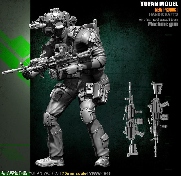 Yufan Model Originally 75mm Resin Soldier (double Head) YFWW-1845