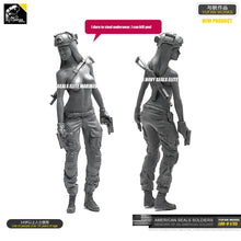 Load image into Gallery viewer, Yufan  Model 1/35 Figure Model Kit American Seal Commando Resin Female Soldier Unmounted Loo-09